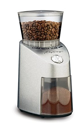 10/ Capresso 565.05 Infinity Conical Burr Grinder, Stainless Steel