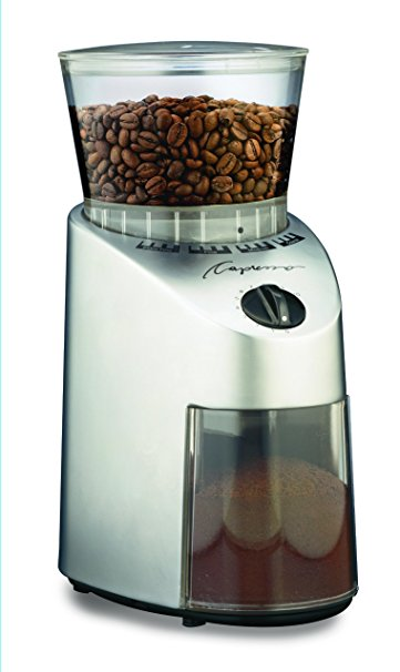 7/ Capresso 560.04 Infinity Conical Burr Grinder, Stainless Finish