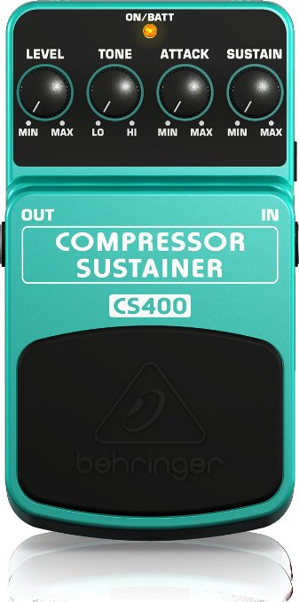 5/ Behringer CS400 Compressor Sustainer Ultimate Dynamics Effects Pedal