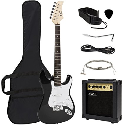 8/ Full Size Black Electric Guitar