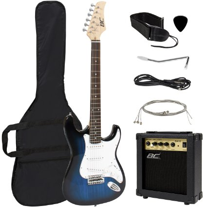 3/ Full Size Blue Electric Guitar