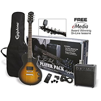 1/ Epiphone Les Paul Electric Guitar Player Package