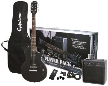 9/ Epiphone Les Paul Electric Guitar Player Package, Ebony
