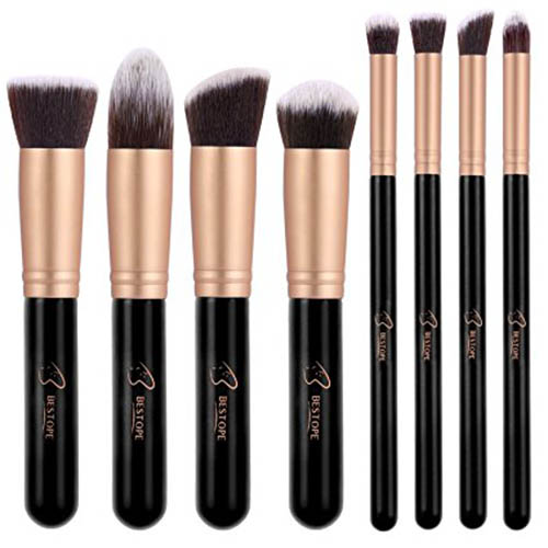 1. BESTOPE Makeup Brushes Premium Cosmetic Makeup Brush Set Synthetic Kabuki Makeup Foundation Eyeliner Blush Contour Brushes for Powder Cream Concealer Brush Kit