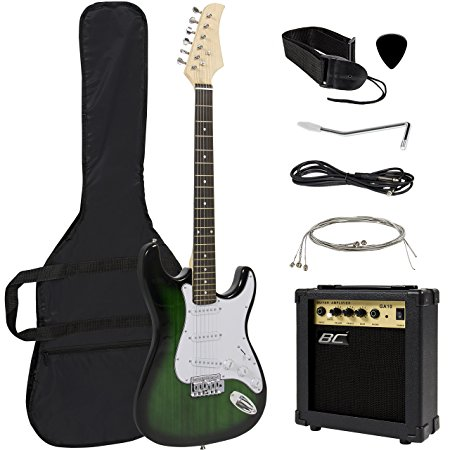 4/ Full Size Green Electric Guitar
