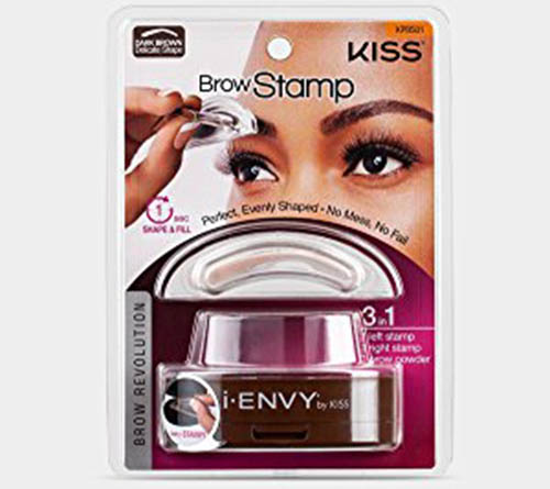 5. i-Envy by Kiss Brow Stamp for Perfect Eyebrow (KPBS01 - Dark Brown/Delicate Shape)