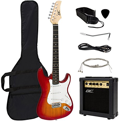 7/ Full Size Sunburst Electric Guitar Set
