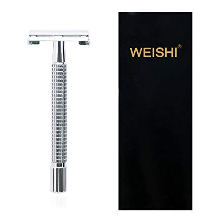 7. WEISHI Chrome Long Handle Version Butterfly Open Double Edge Safety Razor