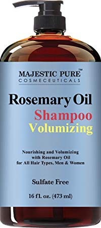 9. Majestic Pure Rosemary Shampoo, Sulfate Free with 2.5% Pure Rosemary Essential Oil
